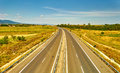 Highway Landscape Royalty Free Stock Photo