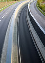 Highway lanes empty with no cars Stock Photography