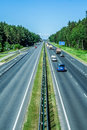 Highway in latvia view on the Royalty Free Stock Images