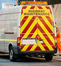 Highway maintenance van Stock Photos