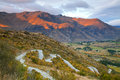 Highway Mountain range New Zealand Stock Photography