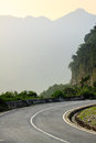 Highway near mai chau town hoa binh province vietnam Royalty Free Stock Images