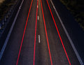 Highway at night long exposure Stock Image