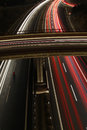Highway at night long exposure shot of Royalty Free Stock Photography