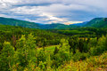 Highway overlook san juan mountain valley perfection in the southwest colorado rocky mountains wilderness and outdoor fun is found Stock Photo