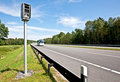 Highway and radar speed camera Royalty Free Stock Photo