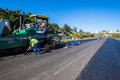 Highway road surfacing asphalt tar construction team laying new surface to local outside durban south africa pphoto image of into Stock Images