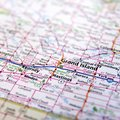 Highway Roap Map of Nebraska Royalty Free Stock Photo