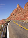 Highway Through Rocky Hills Stock Photography