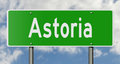 Highway sign for Astoria