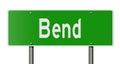 Highway sign for Bend Oregon