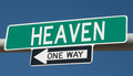 Highway sign for heaven Royalty Free Stock Photo