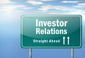 Highway signpost investor relations with wording Stock Image