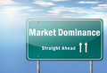 Highway Signpost Market Dominance Royalty Free Stock Photo