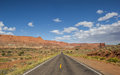 Highway 12 south of Torrey and Capitol Reef in Utah Royalty Free Stock Photo