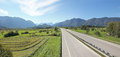 Highway to garmisch partenkirchen germany and the bavarian alps Stock Image