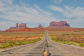 Highway to Monument Valley Royalty Free Stock Photo
