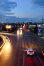 Highway to the rostov on don city russia road evening Royalty Free Stock Image