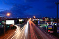 Highway to the rostov on don city russia road evening Royalty Free Stock Photography