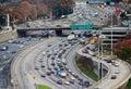 Highway traffic in Atlanta, USA