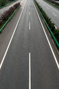 Highway vertical composition straight top view Stock Images