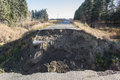 Highway washout Royalty Free Stock Photo