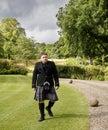 Higlander with kilt Royalty Free Stock Photo