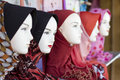 Hijab group of on mannequin Stock Photo