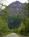 Hike alaska a hiking trail in with mountains Stock Images