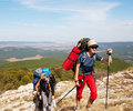 Hike in Crimea Stock Photography