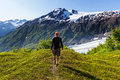 Hike in Exit glacier Royalty Free Stock Photo