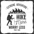 Hike more, worry less.