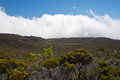 Hike in reunion island to the piton de la fournaise Royalty Free Stock Image
