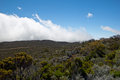 Hike in reunion island to the piton de la fournaise Royalty Free Stock Photos