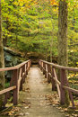 Hiker Footbridge Royalty Free Stock Photo