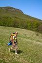 Hiker girl Stock Images