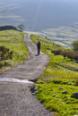 Hiker in Lake District Royalty Free Stock Photo
