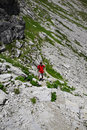 Hiker in the mountains alps bavaria germany allgäu oberstdorf Royalty Free Stock Photography