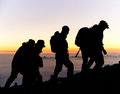 Hikers on Mt Fuji