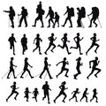 Hikers runners and walkers Royalty Free Stock Photo
