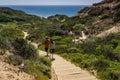 Hikers - Torrey Pines State Natural Preserve - California Royalty Free Stock Photo