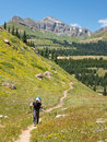 Hiking Adventure in the Rocky Mountains Royalty Free Stock Image