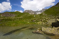 Hiking on the alp flix is moor to about m altitude and a beautiful nature reserve Stock Photo