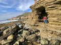 Exploring Cabrillo Tide pools at San Diego with family Royalty Free Stock Photo