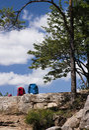 Hiking break Royalty Free Stock Photo