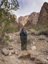 Hiking in a Canyon Royalty Free Stock Photo