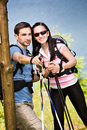 Hiking couple Royalty Free Stock Photos