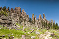 Hiking in Custer State Park, South Dakota Royalty Free Stock Photo