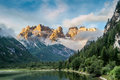 Hiking in dolomites beauty mountains italy Royalty Free Stock Image