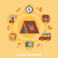 Hiking Equipment For Tourists Royalty Free Stock Photo